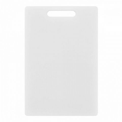 Chef's Thick Medium 31cm White Plastic Chopping Cutting Board